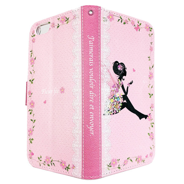 MADE IN JAPAN Wallet Case - Cute Fairy Flowers Pink for iPhone 6/6s - Dhouse USA - 10