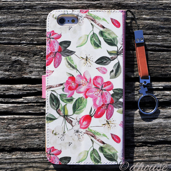 MADE IN JAPAN Wallet Case - Cherry Blossoms for iPhone 6/6s - Dhouse USA - 2