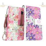 Cute Beautiful Flower Wallet iPhone Case - Made in Japan by DHOUSE