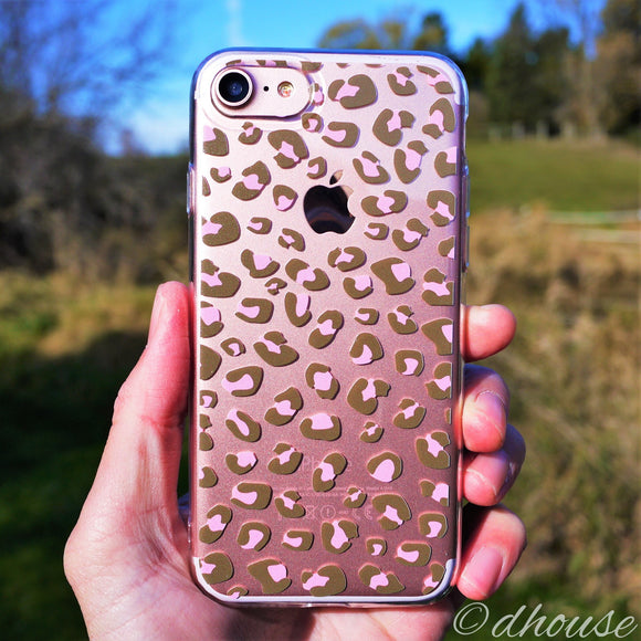 MADE IN JAPAN Soft Clear Case - Leopard pattern for iPhone 7 - Dhouse USA - 1