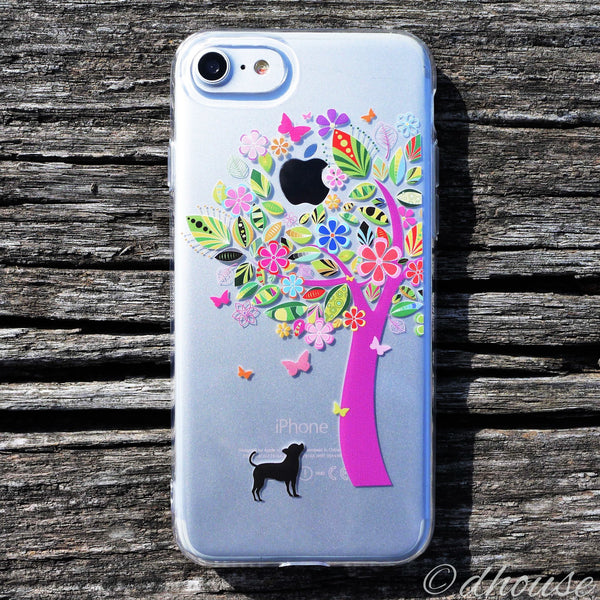 MADE IN JAPAN Soft Clear Case - Dog Color Tree for iPhone 7 - Dhouse USA - 2