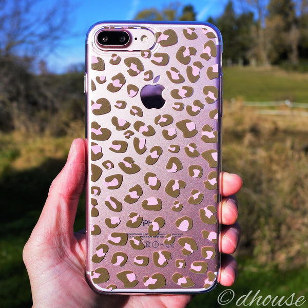 MADE IN JAPAN Soft Clear Case - Leopard pattern for iPhone 7 Plus - Dhouse USA - 2