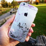 MADE IN JAPAN Soft Clear iPhone Case - Flowers and Butterfly - Dhouse USA - 2