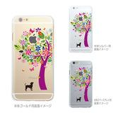 Cute Soft Clear iPhone Case - Dog Color Tree Made in Japan by DHOUSE