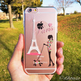 MADE IN JAPAN Soft Clear iPhone 6/6s Case - Girl Love Paris Eiffel Tower - Dhouse USA - 5