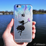 MADE IN JAPAN Soft Clear iPhone 6/6s Case - Forest Fairy Blue - Dhouse USA - 1