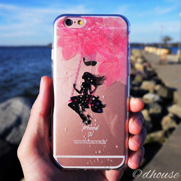 MADE IN JAPAN Soft Clear iPhone 6/6s Case - Forest Fairy Pink - Dhouse USA - 1
