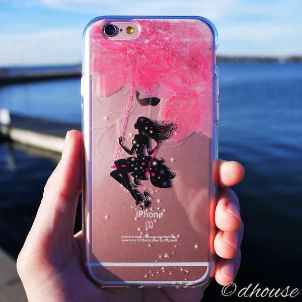 MADE IN JAPAN Soft Clear iPhone 6/6s Case - Forest Fairy Pink - Dhouse USA - 3