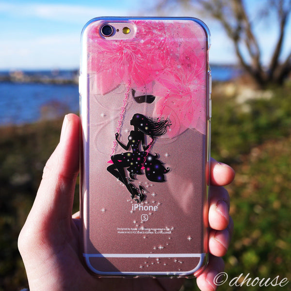 MADE IN JAPAN Soft Clear iPhone 6/6s Case - Forest Fairy Pink - Dhouse USA - 4