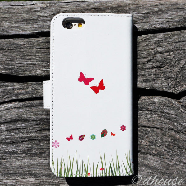 MADE IN JAPAN Wallet Case for iPhone 6/6s  - Cat Flower Tree - Dhouse USA - 7