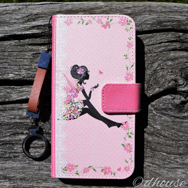 MADE IN JAPAN Wallet Case - Cute Fairy Flowers Pink for iPhone 6/6s - Dhouse USA - 1