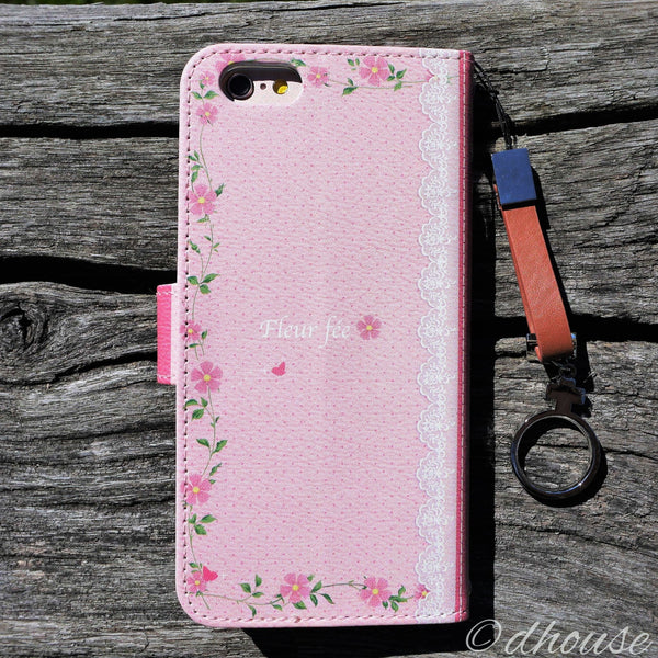 MADE IN JAPAN Wallet Case - Cute Fairy Flowers Pink for iPhone 6/6s - Dhouse USA - 2