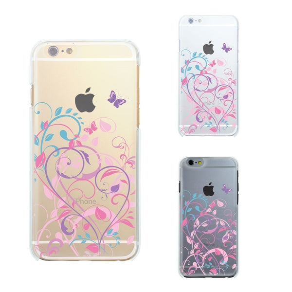 MADE IN JAPAN Soft Clear iPhone 6/6s Case - Butterfly Flowers pink purple - Dhouse USA - 2