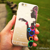 MADE IN JAPAN Soft Clear iPhone Case - Colorful Ring Girl - Dhouse USA - 3