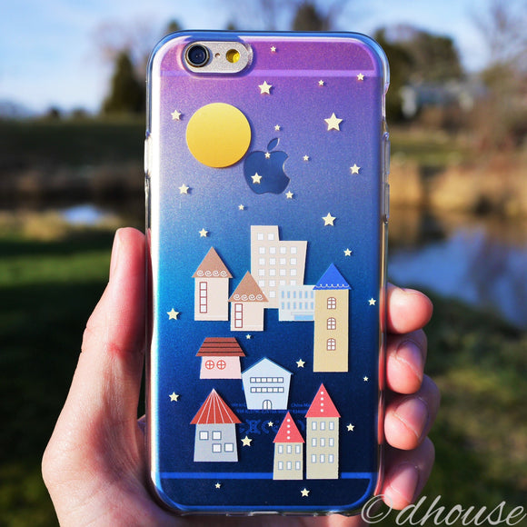 MADE IN JAPAN Soft Clear iPhone 6/6s Case - City Night Houses - Dhouse USA - 1