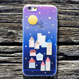 MADE IN JAPAN Soft Clear iPhone 6/6s Case - City Night Houses - Dhouse USA - 5