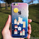 MADE IN JAPAN Soft Clear iPhone 6/6s Case - City Night Houses - Dhouse USA - 4