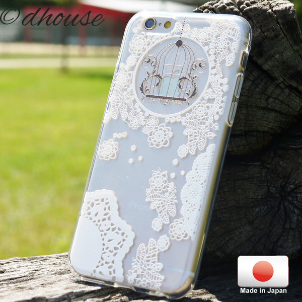 MADE IN JAPAN Soft Clear iPhone 6/6s Case - White Lace Flower - Dhouse USA - 4