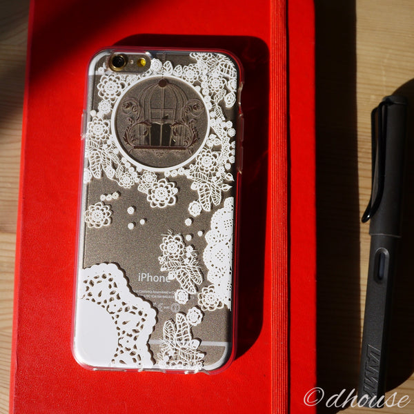 MADE IN JAPAN Soft Clear iPhone 6/6s Case - White Lace Flower - Dhouse USA - 1