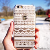 MADE IN JAPAN Soft Clear iPhone 6/6s Case White Lace Pattern - Dhouse USA - 3