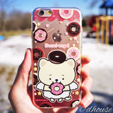 MADE IN JAPAN Soft Clear iPhone 6/6s Case - Donut Angel Bear - Dhouse USA - 1