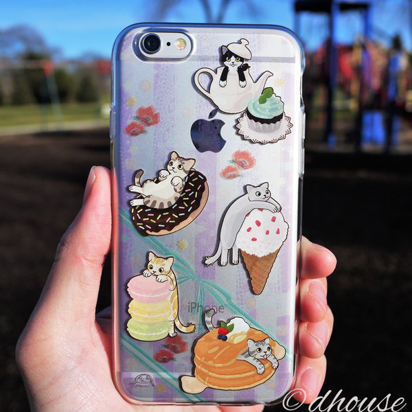 MADE IN JAPAN Soft Clear iPhone 6/6s Case - Cats and Candy - Dhouse USA - 1