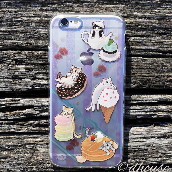 MADE IN JAPAN Soft Clear iPhone 6/6s Case - Cats and Candy - Dhouse USA - 3