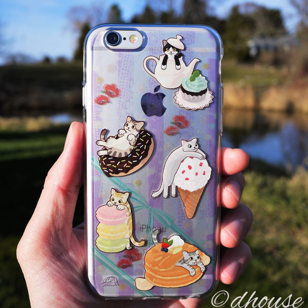 MADE IN JAPAN Soft Clear iPhone 6/6s Case - Cats and Candy - Dhouse USA - 4