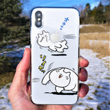 MADE IN JAPAN Cute Clear iPhone Case Anime Cat