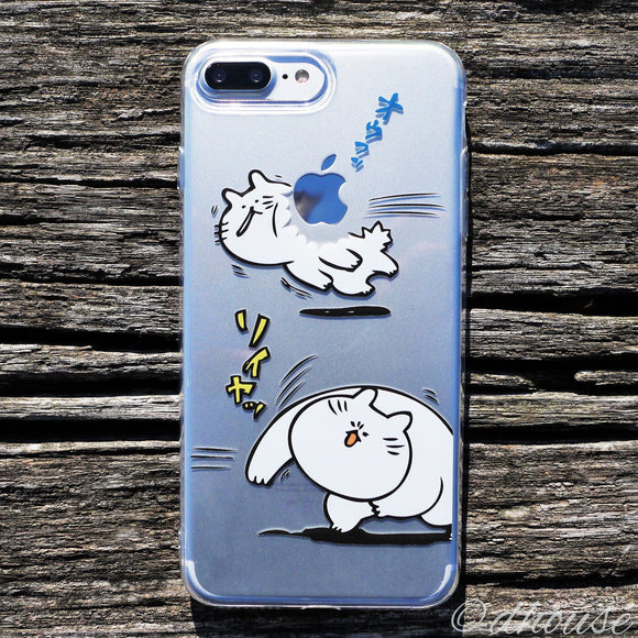 MADE IN JAPAN Cute Clear Soft iPhone Case Anime Cat