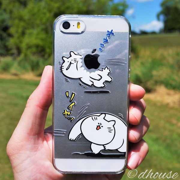 MADE IN JAPAN Hard Shell Clear Case - Japanese Anime Cats for iPhone SE/5/5s - Dhouse USA - 1