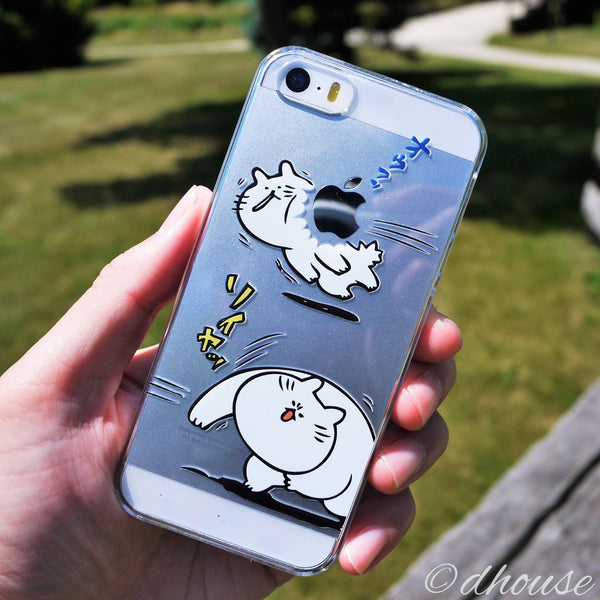 MADE IN JAPAN Hard Shell Clear Case - Japanese Anime Cats for iPhone SE/5/5s - Dhouse USA - 3