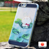 MADE IN JAPAN Soft Clear iPhone 6/6s Case - Anime Cat on Lotus leaf - Dhouse USA - 3