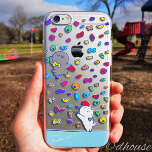Cute Soft Clear iPhone Case - Cats in Bouldering Made in Japan by DHOUSE