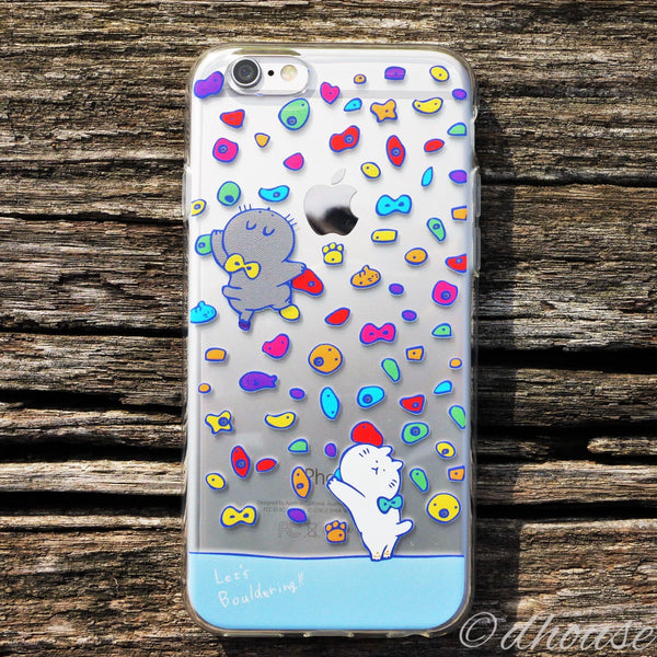 MADE IN JAPAN Soft Clear Case - Cats in Bouldering for iPhone 6/6s - Dhouse USA - 4