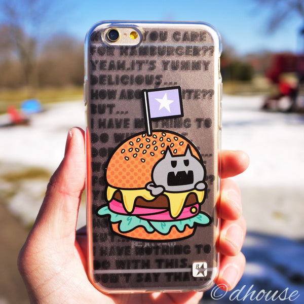 MADE IN JAPAN Soft Clear iPhone 6/6s Case - Hamburger Anime - Dhouse USA - 1
