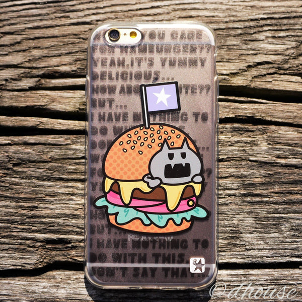 MADE IN JAPAN Soft Clear iPhone 6/6s Case - Hamburger Anime - Dhouse USA - 3