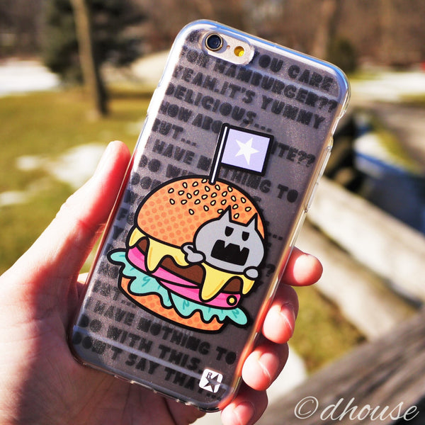 MADE IN JAPAN Soft Clear iPhone 6/6s Case - Hamburger Anime - Dhouse USA - 4