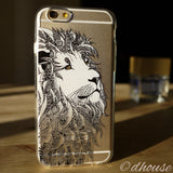 Cute Soft Clear iPhone Case - Lion Head Made in Japan by DHOUSE