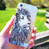 Cute Clear iPhone Case - Lion Head Made in Japan by DHOUSE