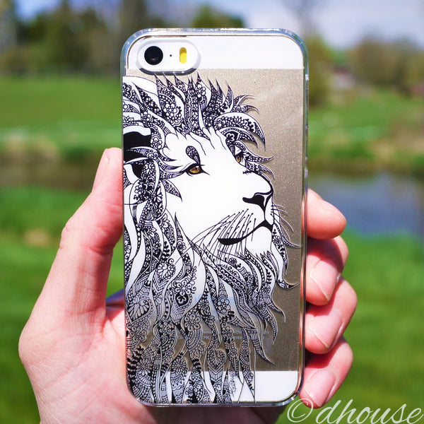 MADE IN JAPAN Hard Shell Clear Case - Lion Head for iPhone SE/5/5s - Dhouse USA - 3