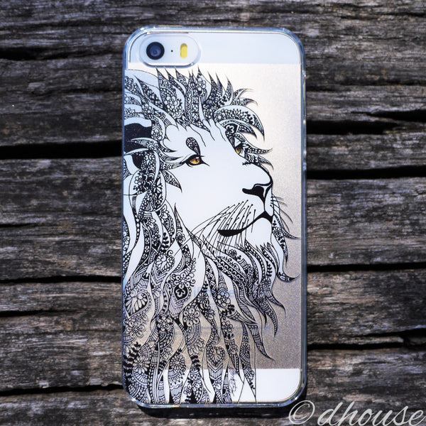 MADE IN JAPAN Hard Shell Clear Case - Lion Head for iPhone SE/5/5s - Dhouse USA - 4