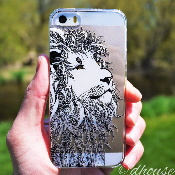 MADE IN JAPAN Hard Shell Clear Case - Lion Head for iPhone SE/5/5s - Dhouse USA - 5