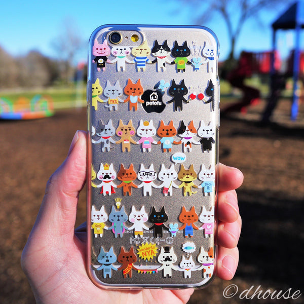 MADE IN JAPAN Soft Clear Case - potofu cats for iPhone 6/6s - Dhouse USA - 1