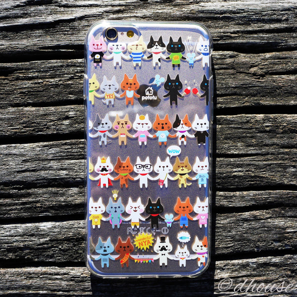 MADE IN JAPAN Soft Clear Case - potofu cats for iPhone 6/6s - Dhouse USA - 3