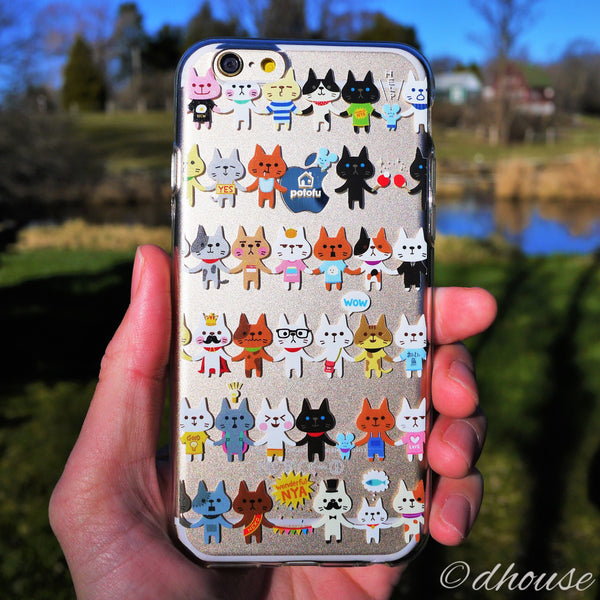 MADE IN JAPAN Soft Clear Case - potofu cats for iPhone 6/6s - Dhouse USA - 4