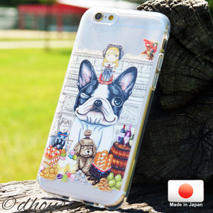 Cute Soft Clear iPhone Case - Anime Cute Pug Dog Made in Japan by DHOUSE