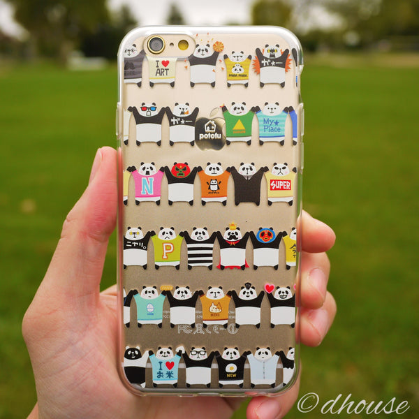 MADE IN JAPAN Soft Clear Case - Potofu Panda for iPhone 6/6s - Dhouse USA - 2