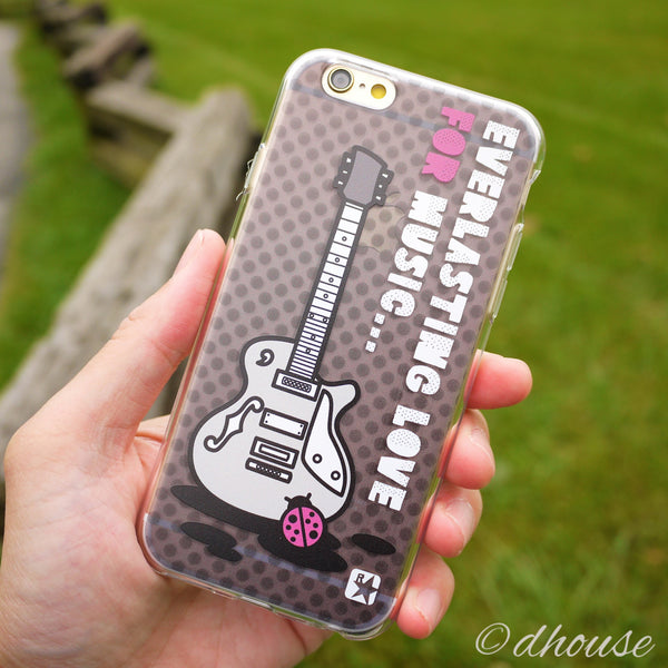 MADE IN JAPAN Soft Clear iPhone 6/6s Case - Guitar Music - Dhouse USA - 3