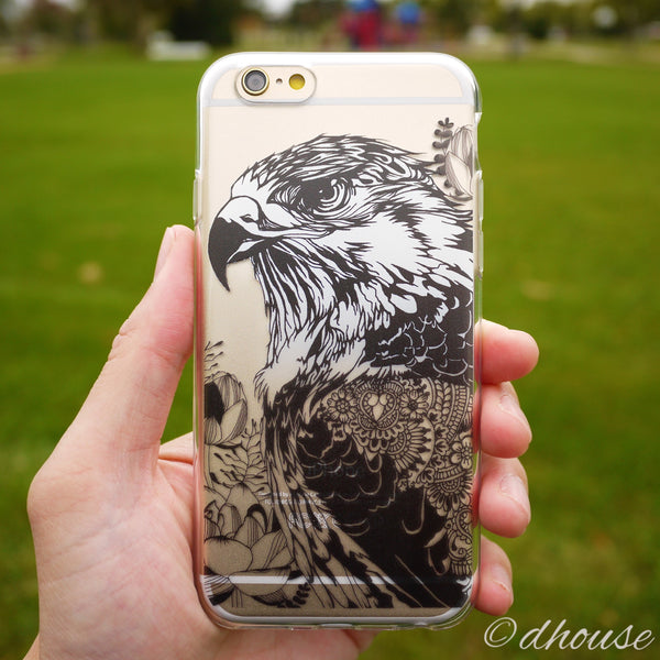 MADE IN JAPAN Soft Clear iPhone 6/6s Case - Hawk Eagle - Dhouse USA - 1